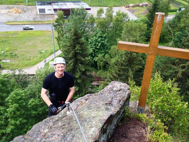Klettersteig Erlabrunn : Walter keiderling klettersteig in erlabrunn auf den nonnenfelsen